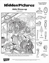 Hidden Puzzles Printables Printable Highlights Objects Attic Object Fall Pages Classroom Puzzle Coloring Games Worksheets Children Summer Toolbox Vision Adult sketch template