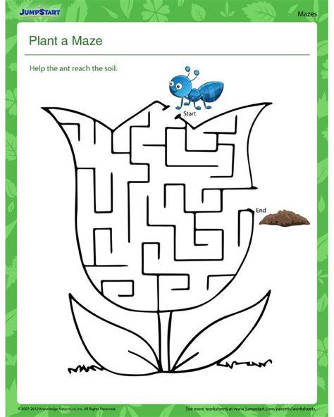 plant a maze free science worksheet worksheets
