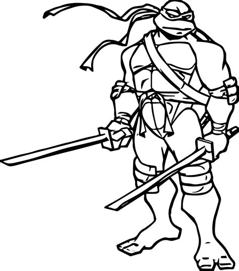 Leonardo Ninja Turtle Coloring Pages Wwwpixsharkcom
