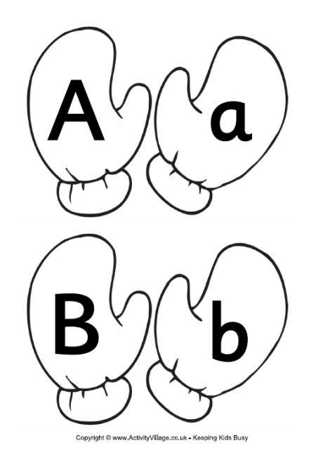 alphabet match  mittens