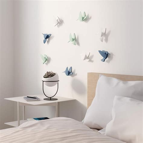 bird wall decoration decor mural relief colibris umbra design ideas