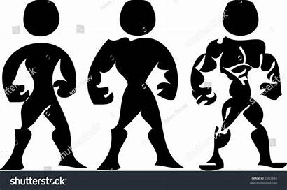 Stronger Cartoon Progressively Vector Shutterstock