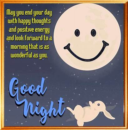 Night Thoughts Happy Card Goodnight Nice End