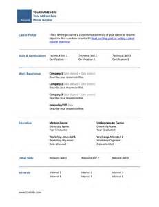 easy resume template simple resume template