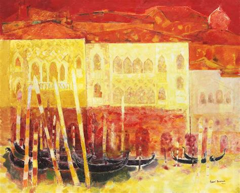 SAKTI BURMAN (B. 1935) , Untitled (Venice)   Christie's
