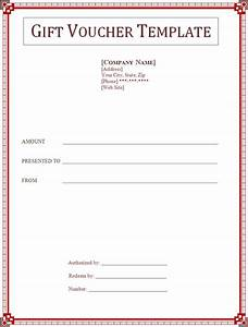 gift voucher template free printable word templates With voucher html template