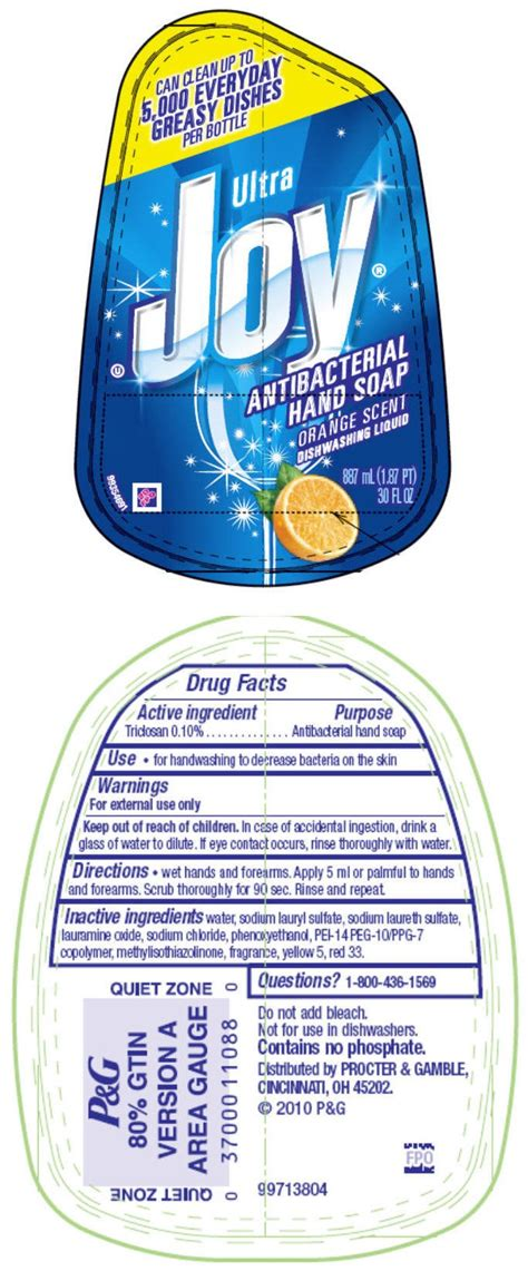 joy ultra orange soap procter gamble manufacturing company