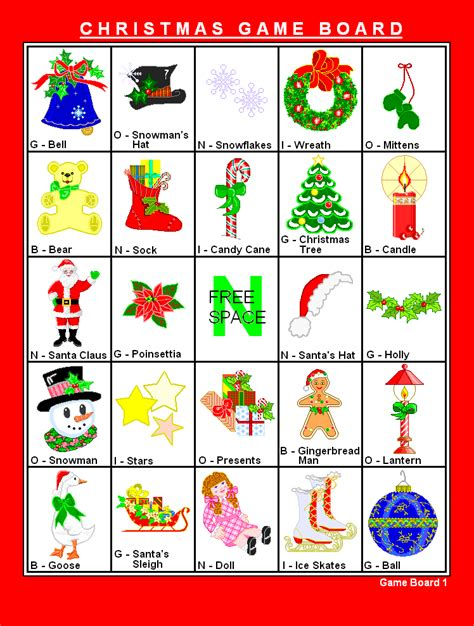 free printable christmas bingo holiday games at kid scraps