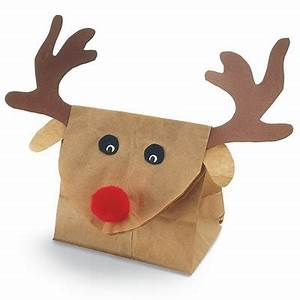 Manualidades navideñas Bolsa de regalo con forma de reno