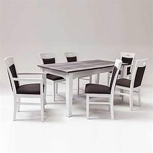 Esstisch Mit 6 Stühlen : esstisch mit 6 st hlen landhausstil 7 teilig pharao24 esszimmerst ~ Bigdaddyawards.com Haus und Dekorationen