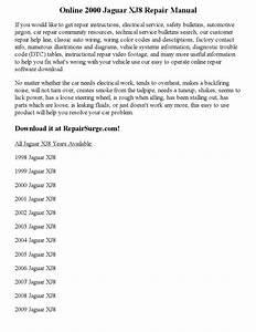 2000 Jaguar Xj8 Repair Manual Online By Nicole