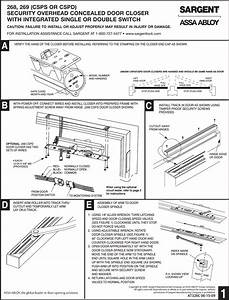 Sargent Installation Instructions For 268  269 Series