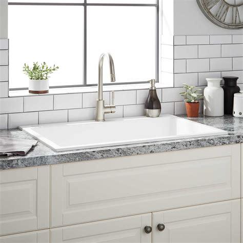 composite kitchen sinks white 33 quot algren drop in granite composite sink cloud white