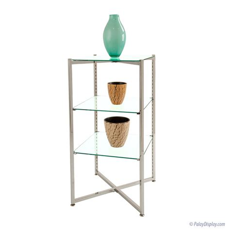 Glass Etagere Display by Folding Glass Etagere Glass Display Tower Glass Floor