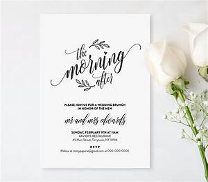wedding brunch invitation template printable post wedding With free printable post wedding invitations