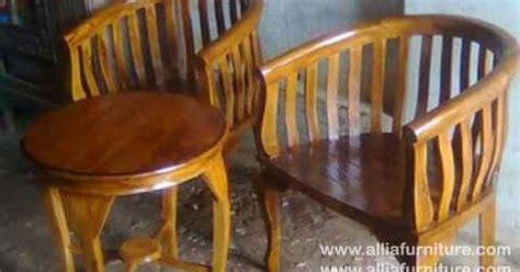 kursi teras tamu kayu jati model betawi allia furniture