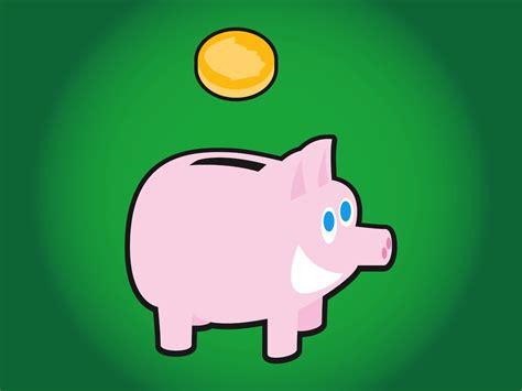Piggy Bank Vector Vector Art & Graphics