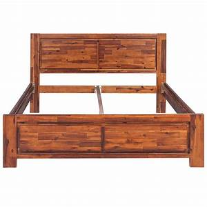 Cadre Lit Bois : acheter vidaxl cadre de lit bois d 39 acacia massif marron ~ Teatrodelosmanantiales.com Idées de Décoration