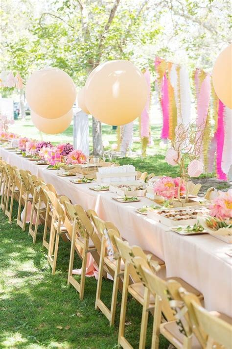 How Pretty Is This Outdoor Tea Party Baby Shower Theme