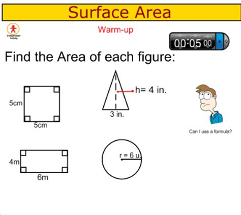 Smart Exchange  Usa  Surface Area Of Prisms And Cylinders