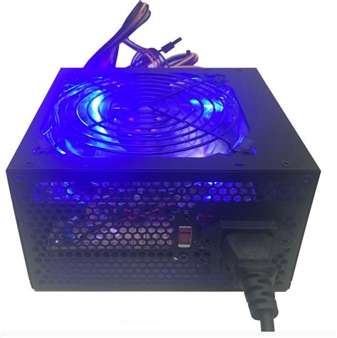 ac powered computer fan 700 watt blue led 120mm silent fan gaming pc atx 12v