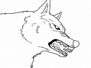 Snarling wolf line art by Msnarutowolfgirl on DeviantArt