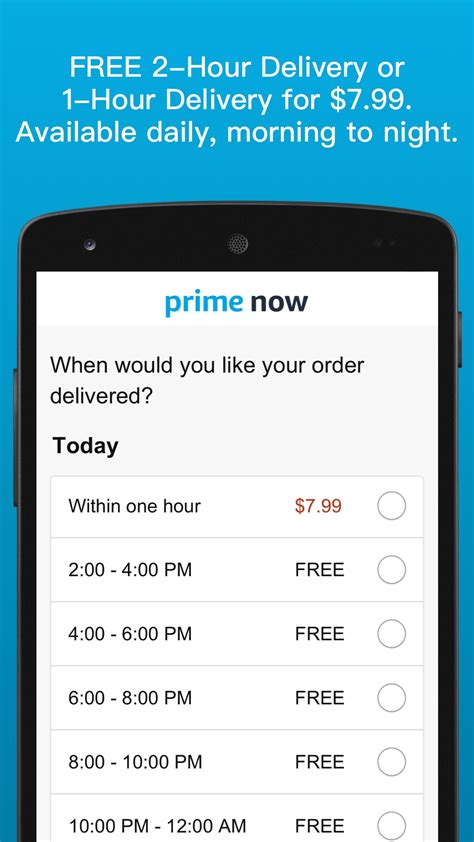 Amazon.com: Amazon Prime Now: Appstore for Android