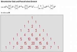 Umkehrfunktion Online Berechnen : binomischer lehrsatz binomialkoeffizienten pascal sches dreieck ~ Themetempest.com Abrechnung