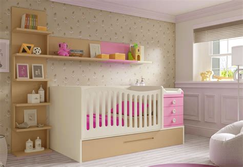 chambre bébé fille moderne lit bébé fille 2 évolutif bc30 avec étagère déco