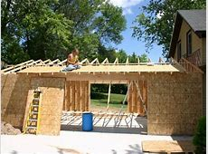 attached garage build YouTube