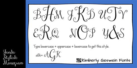 janda stylish monogram font dafontcom