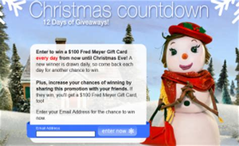 christmas trees on fred meyer fred meyer countdown 12 days of giveaways sweepstakes win a 100 fred meyer gift card