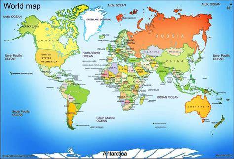 Carte Des Mers Dans Le Monde by Info Carte Du Monde Mer