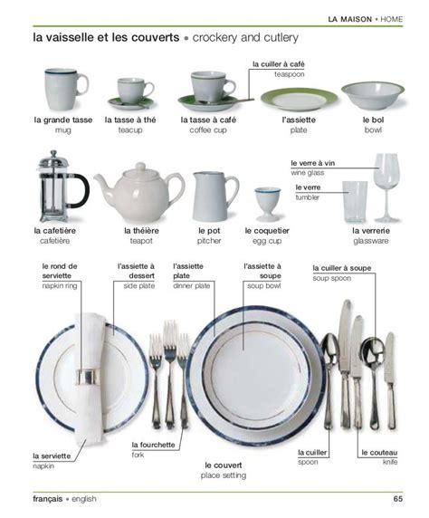 couverts de cuisine vocabulaire de la vaisselle et les couverts en français