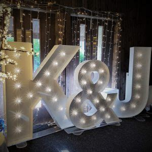 Large Light Up Letters by Large Led Letters 5ft Hire Scotland Special