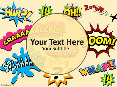 comic powerpoint template  comic expression powerpoint