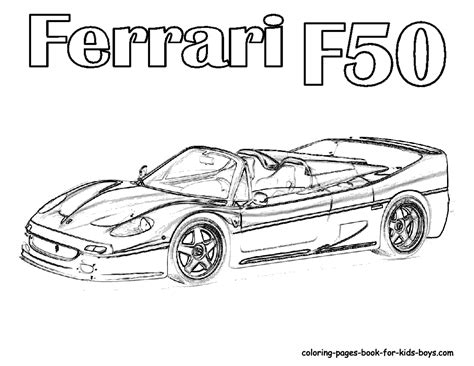 Ferrari Car Coloring Pages, Pictures Of Ferrari Sports