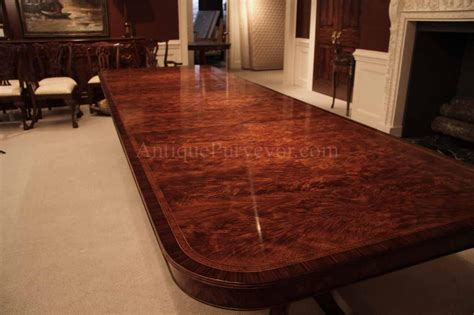 Flame Mahogany Dining Table For Seating 8-14 People, 12