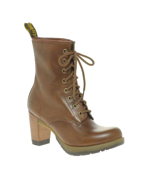 dr martens dr martens diva darcie  eye boot  brown tan lyst