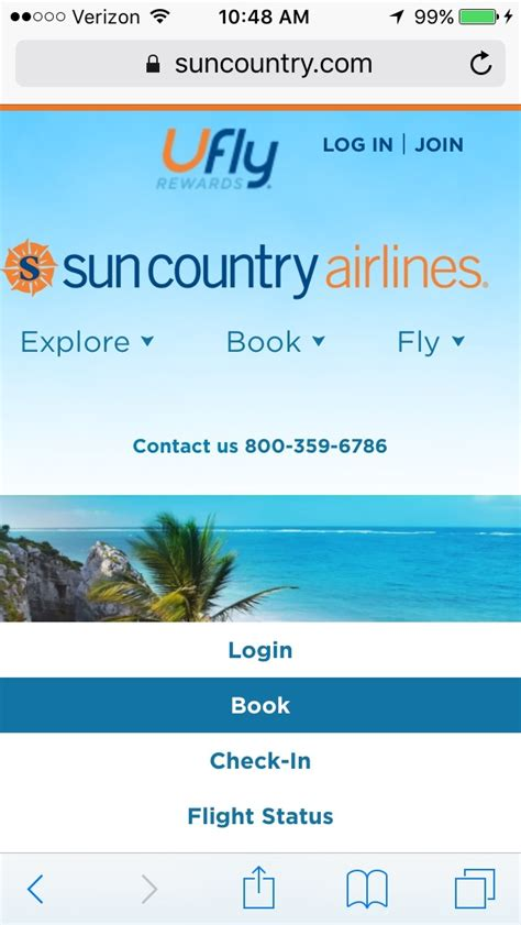 sun country mobile apps airline mobile apps