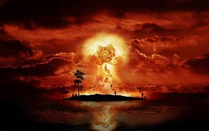 Explosion Island Fantasy Wallpapers Nuclear Desktop
