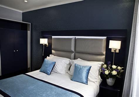 chambre bleu et chambre moderne gris et bleu