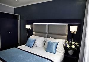 Chambre Gris Et Bleu : chambre moderne gris et bleu ~ Melissatoandfro.com Idées de Décoration