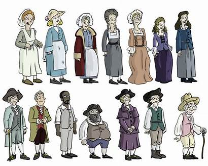Colonial Clipart Clip Character Characters Thomas September
