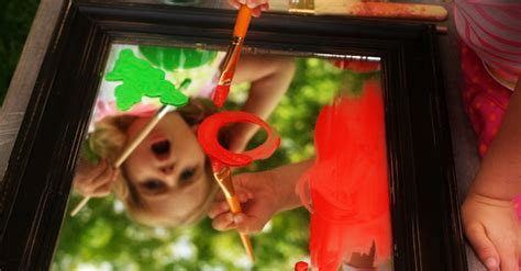 painting   mirror outdoor art activity kids