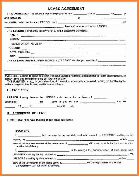 rental lease agreement  marital settlements
