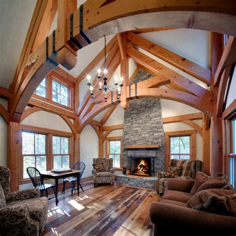 home interior framed timber frame great rooms energy works