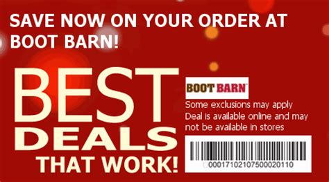 boot barn code boot barn codes save 13 w 2015 coupons promo codes