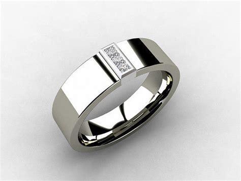 titanium wedding band white gold  torkkelijewellery