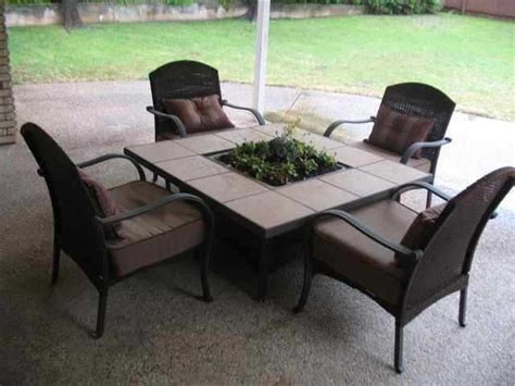 outdoor firepit table and 4 chairs used 250 westdale